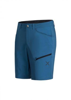 MONTURA - Pantalone uomo bermuda Stretch Walk - Blu Ottanio