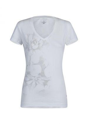 MONTURA - T-Shirt donna manica corta girocollo in cotone Romance - Bianca