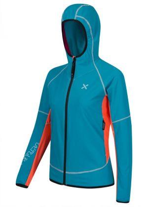 MONTURA - Giacca donna antivento con cappuccio full zip Run Team