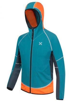 MONTURA - Giacca uomo anti vento sofshell con cappuccio ful zip Run Team