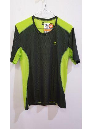 MICO - T-Shirt uomo girocollo trekking e corsa Drynet - Verde