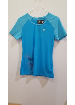 MICO - T-Shirt donna girocollo per trekking e corsa Flight - Azzurro