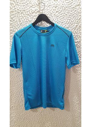 MICO - T-Shirt uomo girocollo trekking Mid Layer Outer Wear - Azzurro