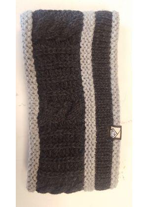 E9 - Fascia lana maglia grossa interno pile Braid - Black