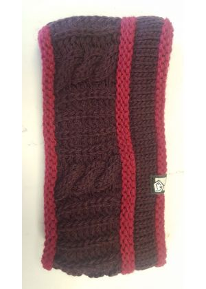 E9 - Fascia lana maglia grossa interno pile Braid - Violet