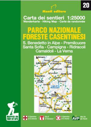 MONTI EDITORE - Cartina 1:25000 Foreste Casentinesi
