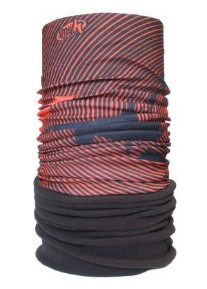 4FUN - Scalda collo scarf 8 in 1 in Polartec e Micro fibra - colore Kite Orange