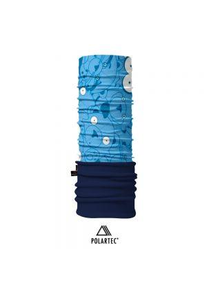 4FUN - Scalda collo scarf 8 in 1 in Polartec e Micro fibra per bambini - colore Blue Eye Kid