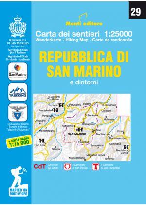 MONTI EDITORE - Cartina sentieri 1:25000 Repubblica di San Marino