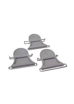 CONTOUR - Coppia gancio anteriore per pelli con elastico Top Fix 85 mm
