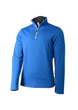 MICO - Maglia uomo mezza zip - Azzurro