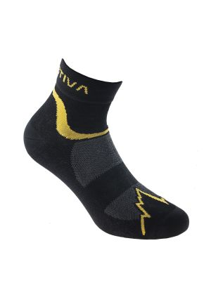 LA SPORTIVA - Calzetto corto Fast Running socks - Giallo Nero