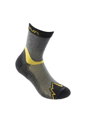 LA SPORTIVA - Calzetto medio per trekking X-Cursion socks - Giallo Grigio