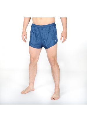 MICO - Pantalone uomo corto per la corsa con slip interno - Blu