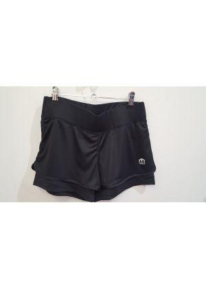 MICO - Pantalone donna corto con slip interno per la corsa - Nero
