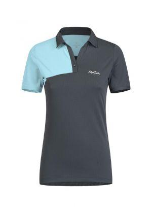 MONTURA - T-shirt donna polo collo V Delta Polo - Grigio