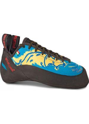 WILD CLIMB - Scarpetta arrampicata con il lacci totalmente micro fibra Pantera Blu 2.0 - tg. 35 1/2