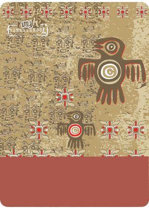 4FUN - Scalda collo scarf 8 in 1 in Polartec e Micro fibra - colore Aztec Bird