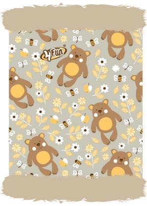 4FUN - Scalda collo scarf in Polartec Pro reversibile per bambini - colore Bear Kid