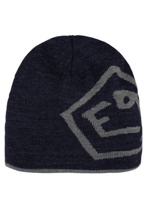 E9 - Cappello in lana double face con logo T - Blu
