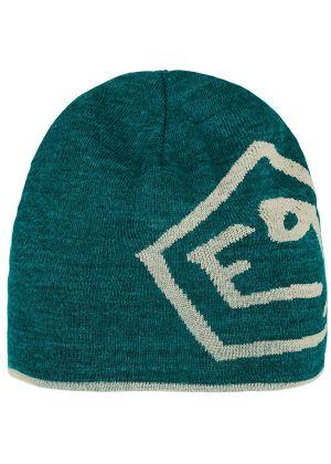E9 - Cappello in lana double face con logo T - Petrol