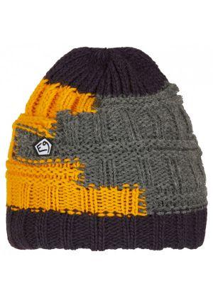 E9 - Cappello lana maglia grosso interno pile Texturhead - Grigio