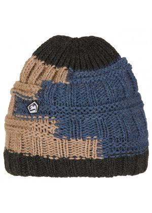 E9 - Cappello lana maglia grosso interno pile Texturhead - Blu