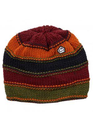 E9 - Cappello lana maglia grossa interno pile Varbis - Wine