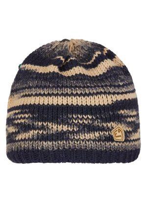 E9 - Cappello lana maglia grosso interno pile Etno - Blu