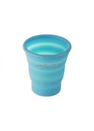 BRUNNER - Bicchiere in silicone comprimibile Fold- Away Glass - Blu