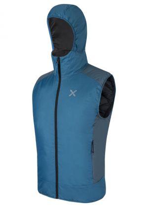 MONTURA - Gilet imbottito con cappuccio Escalade Vest - Blu