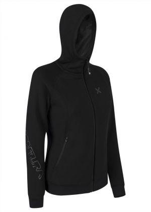 MONTURA - Maglia full zip donna con cappuccio Project Hoody - Nero