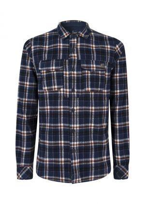 MONTURA - Camicia uomo scacchi in cotone Cambridge Shirt - Blu
