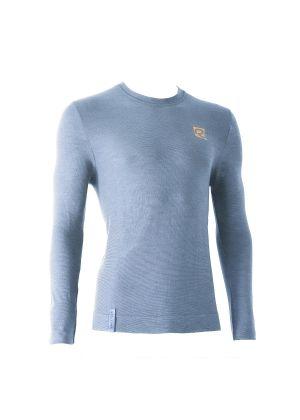 RIDAY - T-Shirt manica lunga intimo uomo lana leggera girocollo Wooltech RDY - Grigio - tg. 4