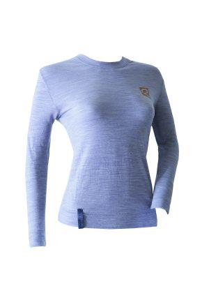 RIDAY - T-Shirt manica lunga intimo donna lana leggera girocollo Wooltech RDY - Grigio