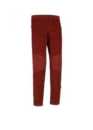 E9 - Pantalone uomo in cotone velluto Gusky - Rosso bordò