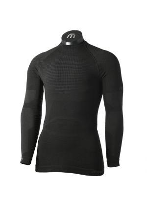 MICO - Maglia uomo intimo girocollo in Primaloft Super Thermo Underwear - Nero