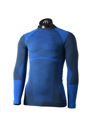 MICO - Maglia uomo intimo giro collo Underwear Warm Control - Blu