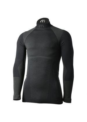 MICO - Maglia uomo intimo collo alto Underwear Warm Control - Nero