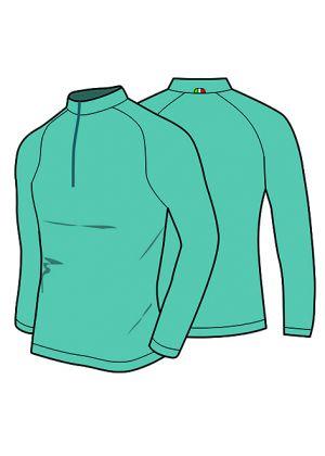 MICO - Maglia uomo mezza zip Mid Layer Outer Wear - Baltic