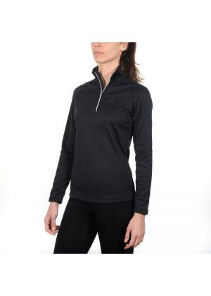MICO - Maglia donna mezza zip secondo strato Micofleece - Nero