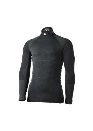 MICO - Maglia uomo intimo giro collo Underwear Warm Control - Nero