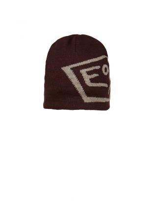 E9 - Cappello in lana con logo T - Rosso bordò