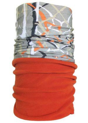 4FUN - Scalda collo scarf 8 in 1 in Polartec e Micro fibra - colore Net Beige