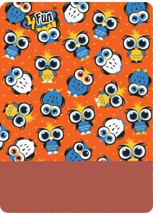 4FUN - Scalda collo scarf 8 in 1 in Polartec e Micro fibra per bambini - colore Owl Orange