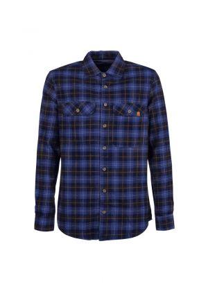 E9 - Camicia uomo in cotone manica lunga Peppino - Blu