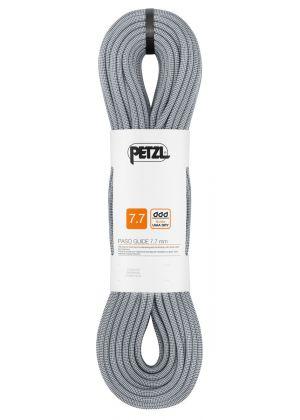 PETZL - Corda dinamica gemella e mezza corda Passo Guide 7.7 mm guide UIAA DRY - Grigio - 50 mt