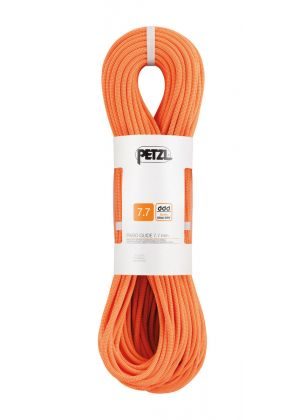 PETZL - Corda dinamica gemella e mezza corda Passo Guide 7.7 mm guide UIAA DRY - Arancio - 50 mt