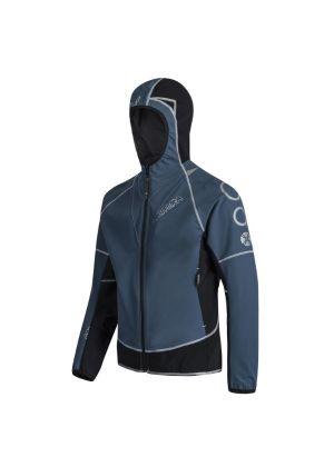 MONTURA - Giacca uomo anti vento sofshell Run Flash - Blu cenere