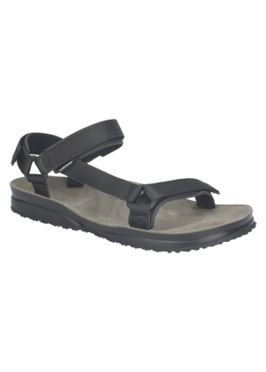 LIZARD - Sandalo plantare in pelle suola vibram Super Hike - Plain Black